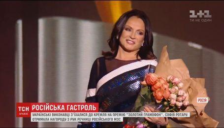 """Известные украинцы пришли на премию """"Золотой граммофон"""" в Кремлевский дворц"""
