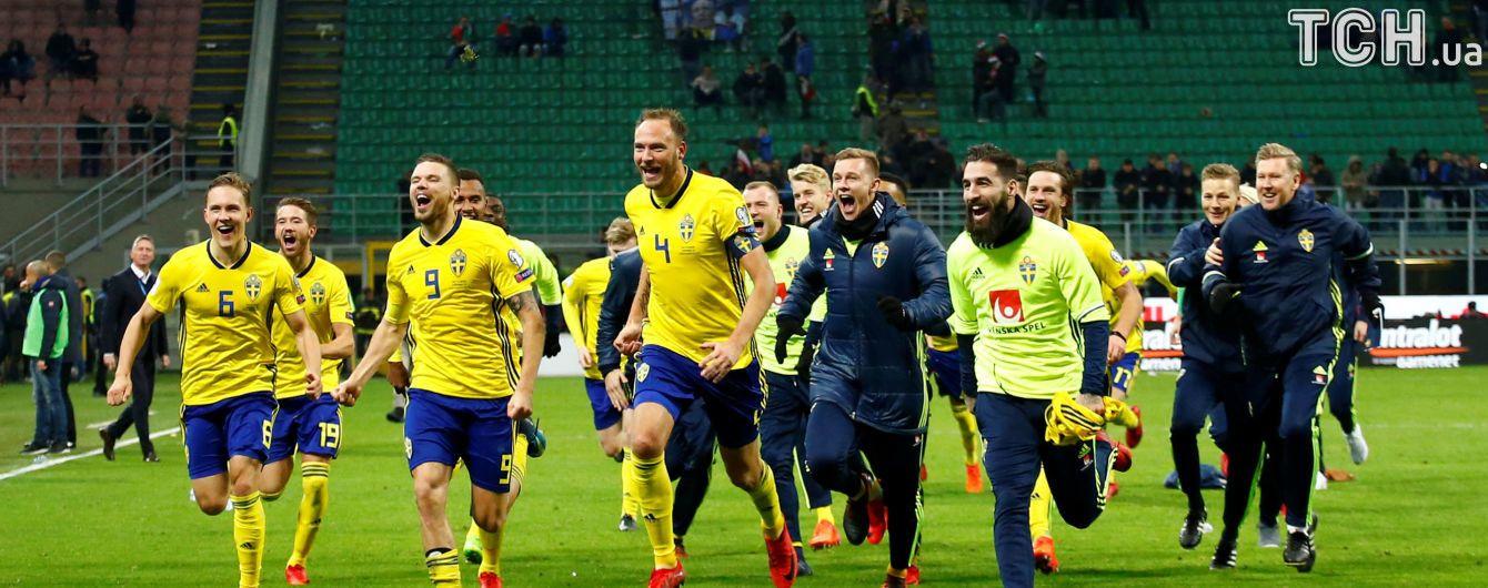 Шведські футболісти розтрощили виїзну студію на полі після виходу на ЧС-2018