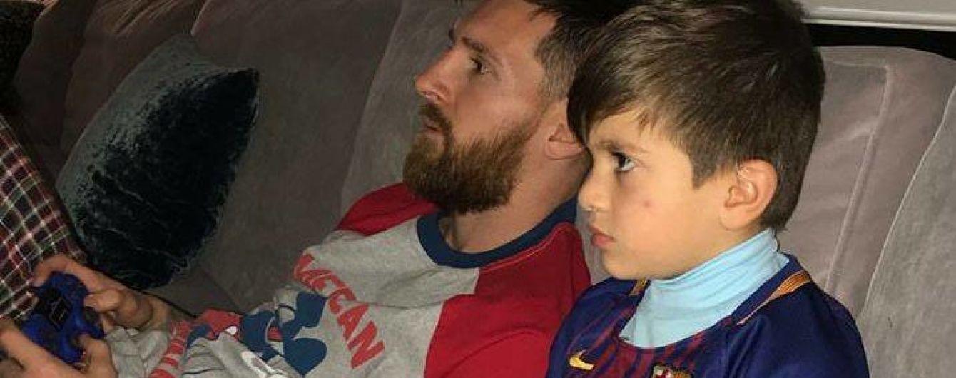 Месси с сыном устроили домашнее Эль-Класико