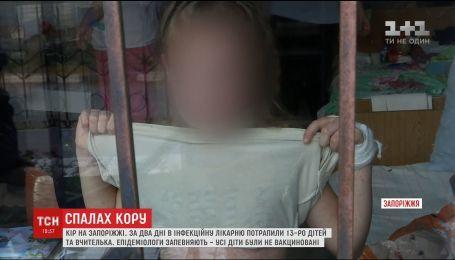 Все дети, заболевшие корью в Запорожье, не были привиты
