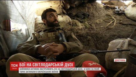"""Боевики активно обстреливают """"волшебный лес"""" на Светлодарской дуге"""