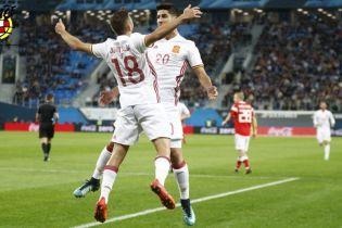 Сборная Испании не удержала победу над Россией в товарищеском матче