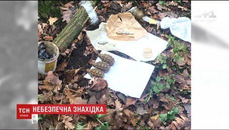У селі біля Києва виявили підготовлена до використання гранату