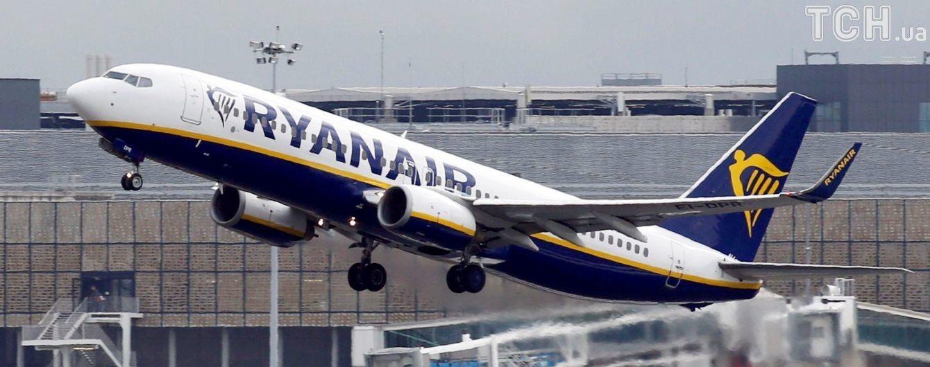 Ryanair скоротив час безкоштовної онлайн-реєстрації на рейси