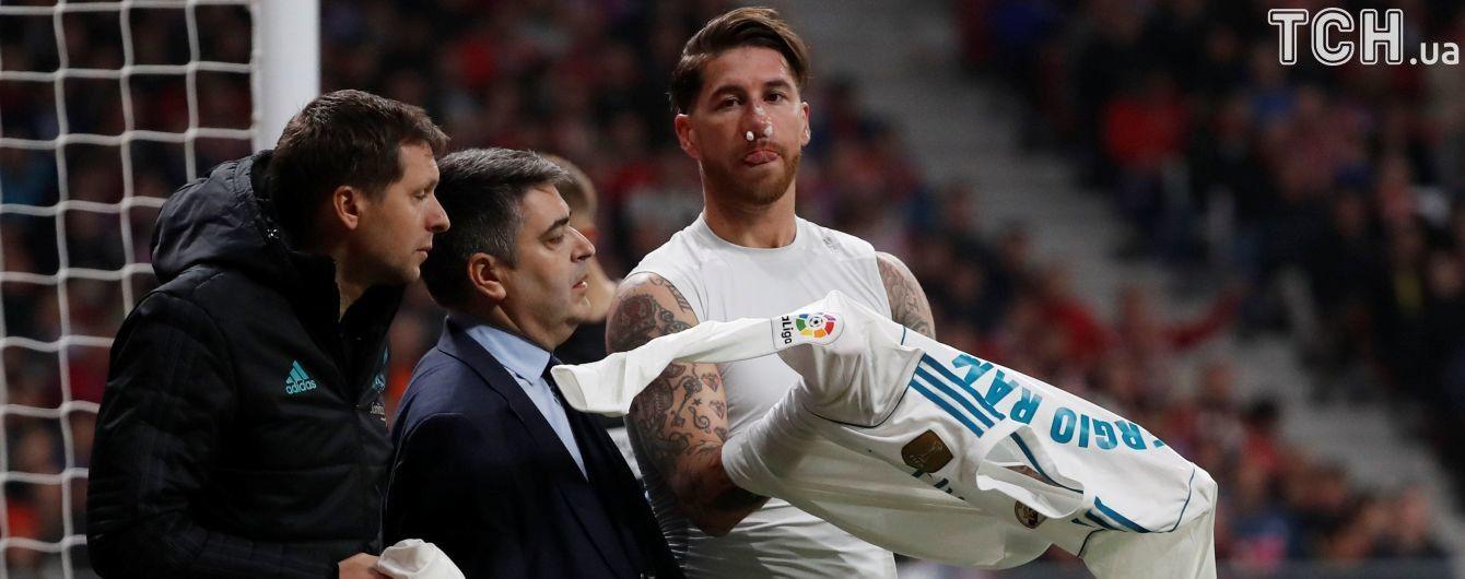 Рамос показал, в какой маске будет играть после перелома носа