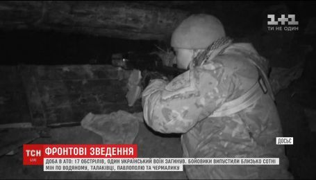 Боевики из минометов обстреляли Авдеевку и Новотроицкое