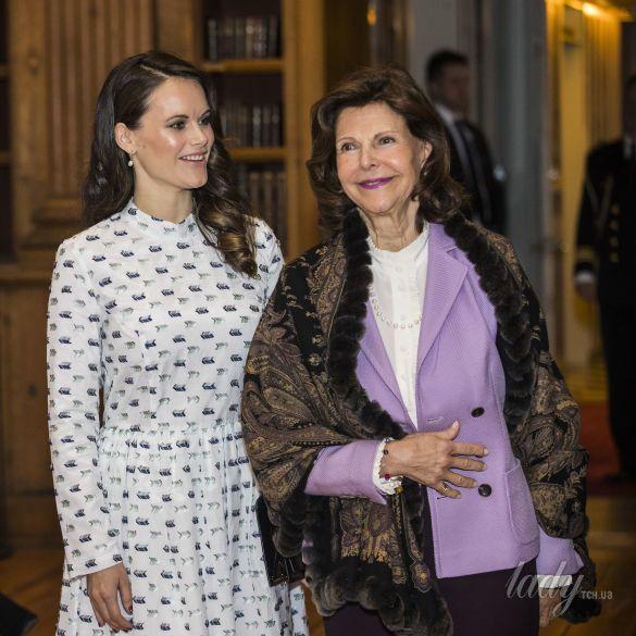 Королева Сильвия и принцесса София_1