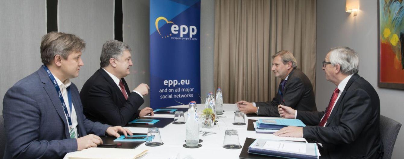 Порошенко зустрівся з Юнкером у Брюсселі: ключові теми переговорів