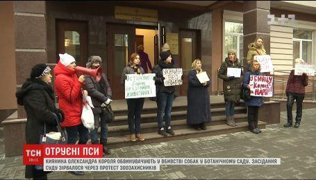 Засідання суду в справі отруєння собак зірвалося через протест зоозахисників