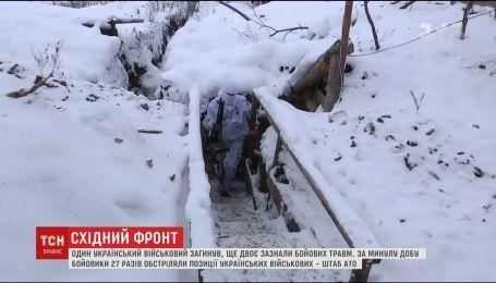 Фронтові зведення: один український військовий загинув, двоє зазнали травм на Сході