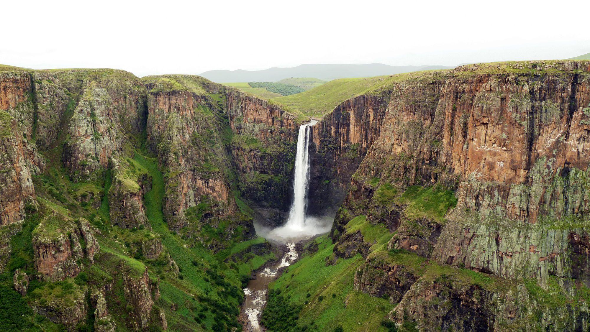 Королівство Лесото, Африка, водоспад