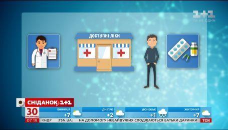 Какие лекарства станут бесплатными для украинцев