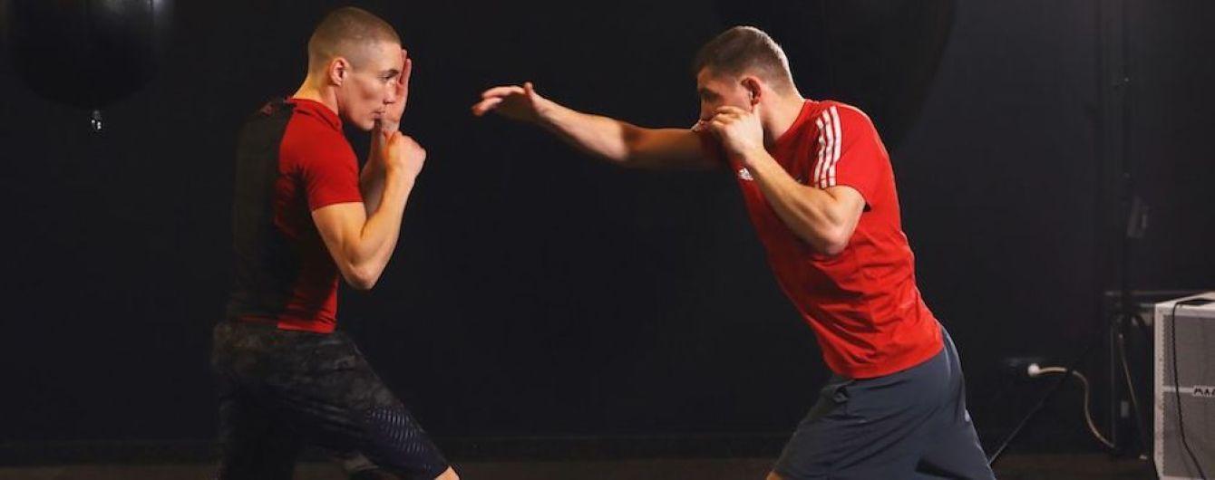 Украинские боксеры провели совместную тренировку перед титульными боями