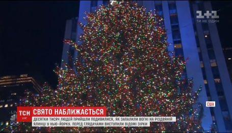 В Нью-Йорке зажгли главную елку