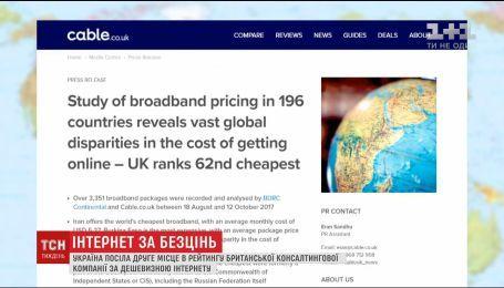 Украина заняла второе место в рейтинге за дешевизной Интернета