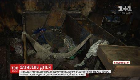 В Житомирской области двое детей угорели во сне во время пожара в частном доме