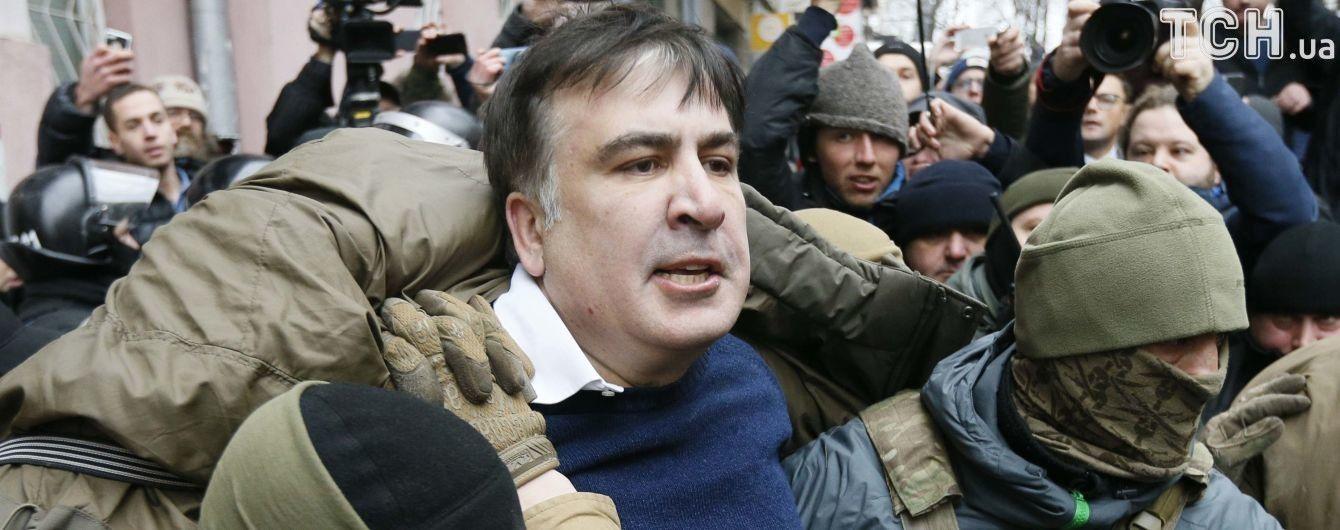 Вивільнений з авто СБУ Саакашвілі закликав українців вимагати імпічменту Порошенка