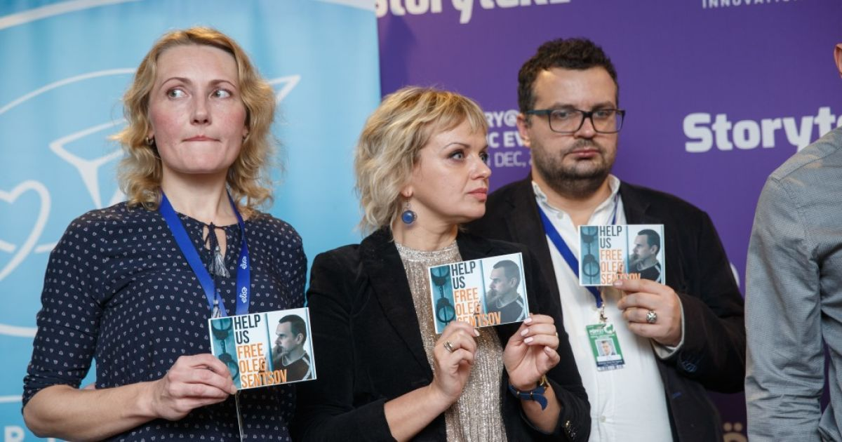 Акция в защиту Олега Сенцова