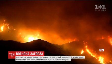 В Калифорнии бушуют адские лесные пожары