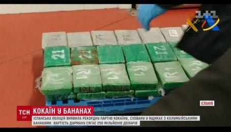 В Испании полиция обнаружила рекордное количество кокаина в ящиках с бананами