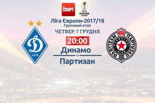 Динамо - Партизан - 3:1. Онлайн-трансляция матча Лиги Европы