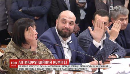 Антикорупційний комітет проголосував за звільнення Соболєва