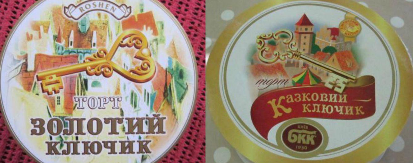 """Битва тортів. АМКУ оштрафував """"Київхліб"""" за подібність упаковки з продукцією """"Рошена"""""""