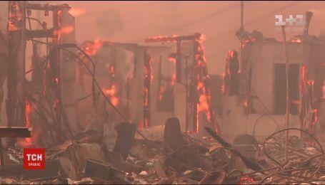 Сокрушительные пожары в Калифорнии охватили территорию почти в 200 квадратных километров