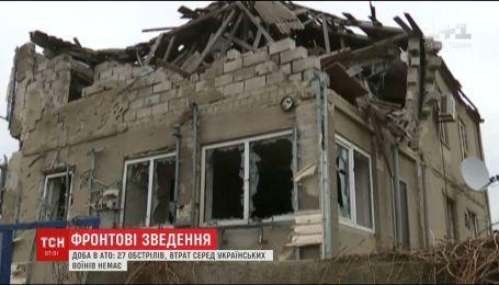 Фронтовые сводки: боевики из минометов ударили по опорникам возле Луганского