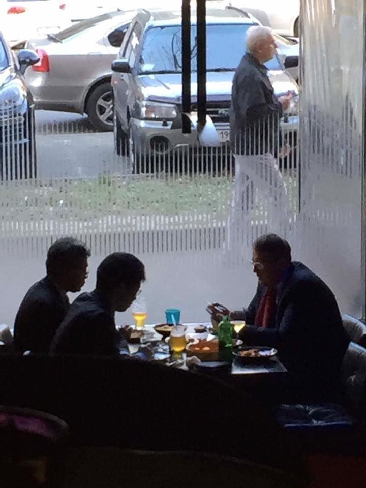 Антон Геращенко в ресторані