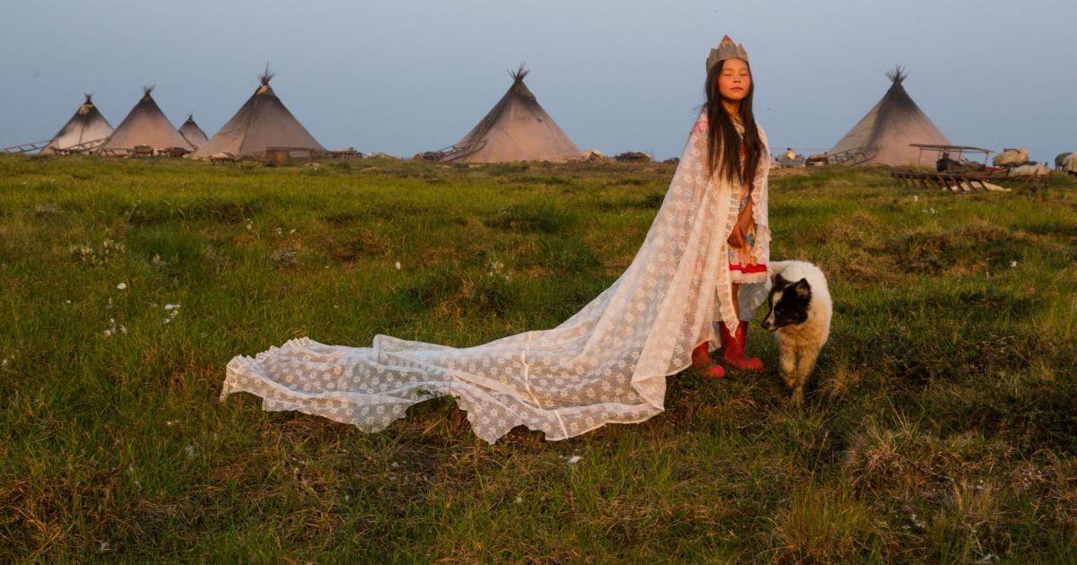 «Принцеса тундри» у ненцькому таборі біля Карського моря.
