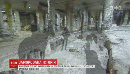"""Инвесторы с """"Семьи"""" уничтожают памятники времен Руси в центре Киева"""
