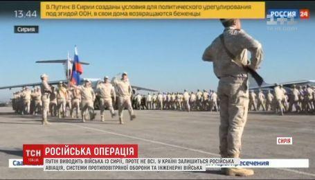 Росія вчергове оголосила про завершення своєї військової операції у Сирії
