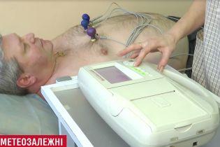 Украинцам советуют обращаться к кардиологам при появлении метеозависимости
