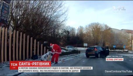 У Мережі набирає популярності героїчний вчинок чоловіка в костюмі Санта Клауса
