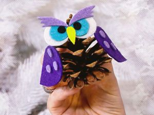 Ялинкові іграшки власноруч: дуже мудра сова