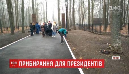 В сети смеются над видео, на котором моют бордюры перед приездом президентов Украины и Польши