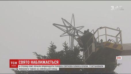 В Киеве начали украшать главную елку страны