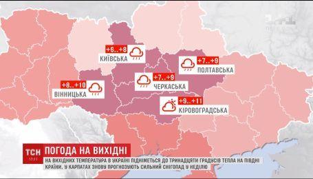 У ці вихідні на українців чекає сильне потепління