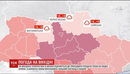 Украинцев ждет сильное потепление на выходные