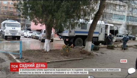 В оккупированном Крыму одновременно происходят 76 судебных заседаний над крымцами