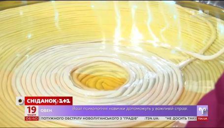 На території одного із заводів Китаю зліпили макаронину-рекордсмена