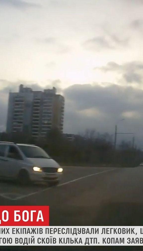 У Запоріжжі водій дорогою до церкви влаштував перегони з поліцією і влаштував ДТП
