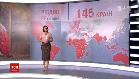 Україна долучилася до більше сотні країн світу, які мають вихідний 25 грудня