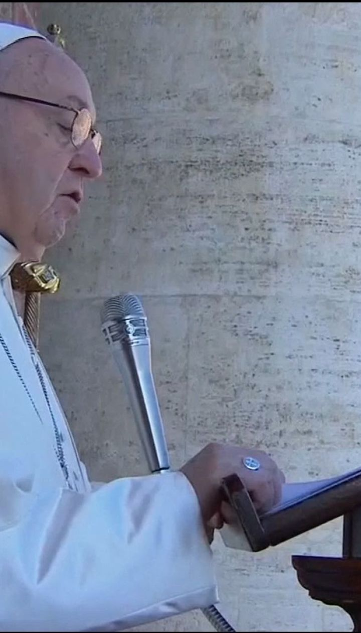 Папа Римский в рождественском послании попросил мира для Украины и других стран