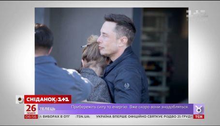 Всемирно известного изобретателя Илона Маска застукали за поцелуями с бывшей