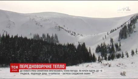 Украину перед новым годом настигла весенняя погода