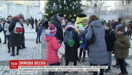 Украинцев ожидает весенняя погода на Новый год