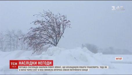 Майже 50 сантиметрів снігу випало на півночі Японії