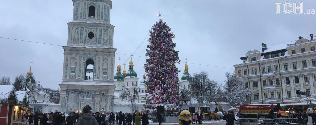 Украина встретила Новый 2018-й год